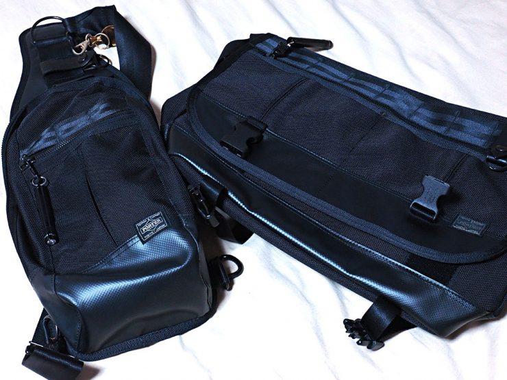 HEATシリーズのワンショルダーバッグとメッセンジャーバッグを並べてみる